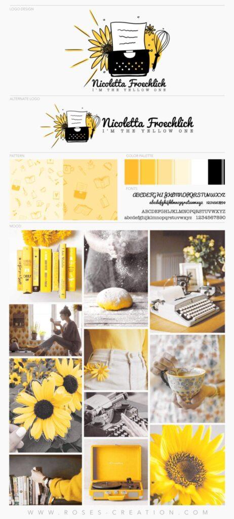 BrandNico-Board-scaled-1-462x1024 Un giallo girasole, una torta e una macchina da scrivere